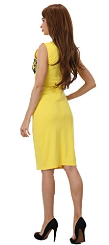 Package Dress Pencil dress A Bridesmaid Homecoming Line Yellow AmyStylish Hip Skirt Women's TvwYXq8
