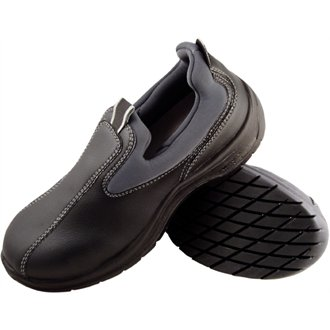 f6a04274e3 Lites Safety Footwear A429-46 Cushioned Slip On, Size 46, UK 11, Black:  Amazon.co.uk: Business, Industry & Science