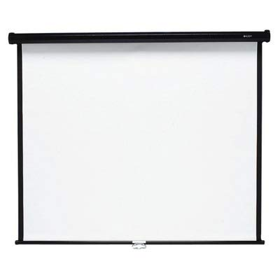 Quartet 670S Wall or Ceiling Projection Screen, 70 x 70, White Matte, Black Matte Casing