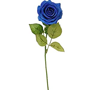 Sweet Home Deco 17'' Real Touch Rose Artificial Single Spray Set of 2 (Blue)