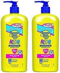 Banana Boat Sunscreen Kids Family Size Broad Spectrum Sun Care Sunscreen Lotion - SPF 50, 12 Ounce, 2-PACK