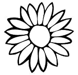 Sunflower Black Decal Vinyl Sticker|Cars Trucks Vans Walls Laptop| Black |5.5 x 5 in|LLI543