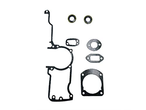 EngineRun Husqvarna Gasket Kit Oil Seals Set fits for 61 61 Ranch 66 266 268 272 272xp Chainsaws OEM 501522604 Ships from The USA 501 52 26-04