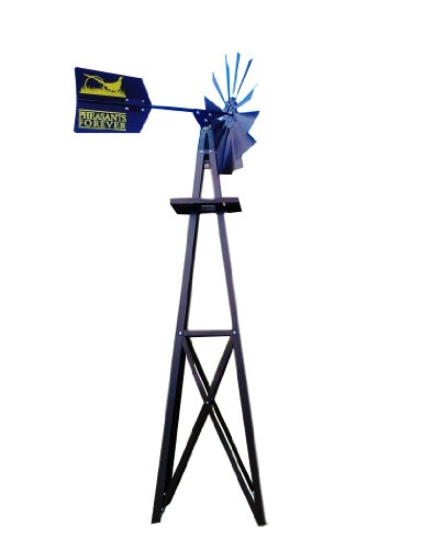 Outdoor Water Solutions BYW0118 Small Pheasants Forever Bronze Powder Coated Backyard Windmill