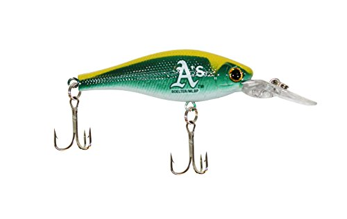 Boelter MLB Minnow Crankbait Fishing Lure, Oakland Athletics - Oakland Athletics Water