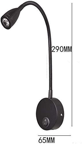 LED Lampe 2pcs Chevet RV Lampe Spot 3000K 12V Flexible Col de Cygne Applique Lampe pour Camper Caravane Camionnette Bateau Argent Free Size A