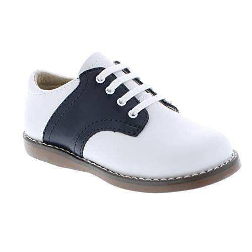FOOTMATES Cheer Laceup Saddle White/Navy - 8401/13 Little Kid M/W by FOOTMATES (Image #3)