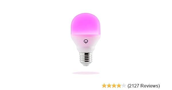 LIFX Mini 800-Lumen LED Light Bulb (L3A19MC08E26) Multi Colored - 1 Pack, 120 volts, 9W - New