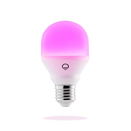 LIFX A19 Mini Color Wi-Fi Smart LED Light Bulb, Color Changing, Dimmable, No Hub Required, App and Voice Control, Works with Amazon Alexa, Apple HomeKit, Google Assistant and Microsoft Cortana ()