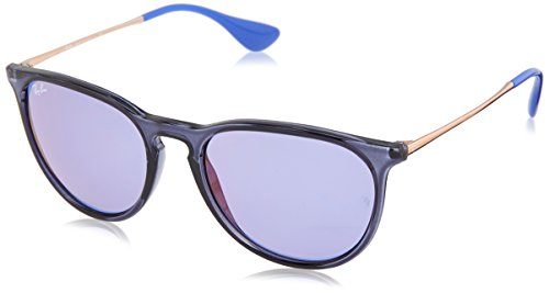 Ray-Ban RB4171 Erika Round Sunglasses, Blue/Violet, 54 mm