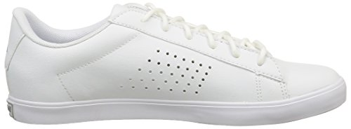 Le Coq Sportif Agate Lo - Zapatillas de Deporte de material sintético mujer Blanco - Blanc (White/Silver)