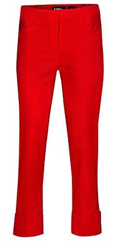 Robell Bella Slim Fit 7/8 Stretchhosen Schlupfhosen Damen Hosen #Bella versch.Farben (44, rot)