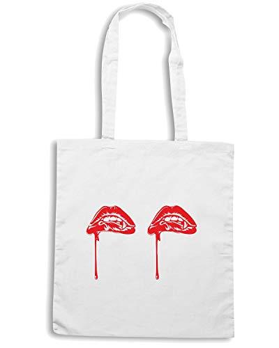 FUN0047 Bianca Shopper LIPS Shirt VAMP Speed Borsa wqIxFOat8