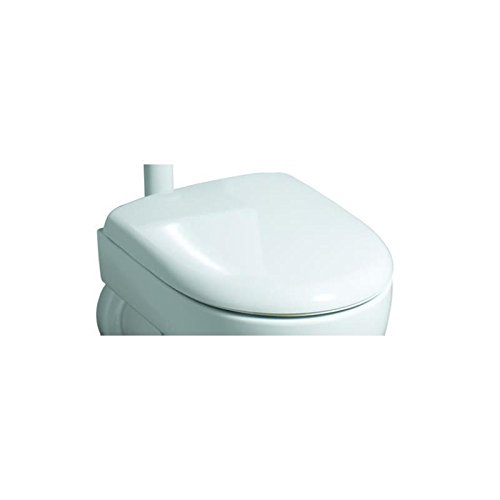 Keramag 573010000 WC-Sitz Renova Nr. 1, mit Deckel Scharniere: Edelstahl, weiß
