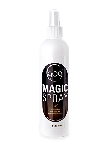 909 Detangler Magic Spray, Aloe Vera Infused Leave-In Conditioner for 100% Remy Human Hair Extensions and Wigs (12 oz) from hair shop
