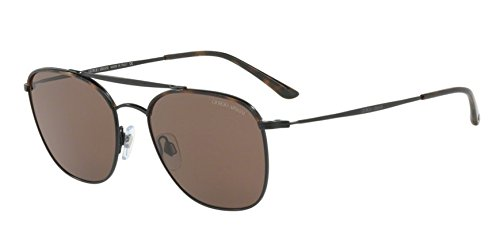 Giorgio Armani Mens Sunglasses Brown/Brown Metal - Non-Polarized - 54mm (Armani Sunglasses Giorgio)