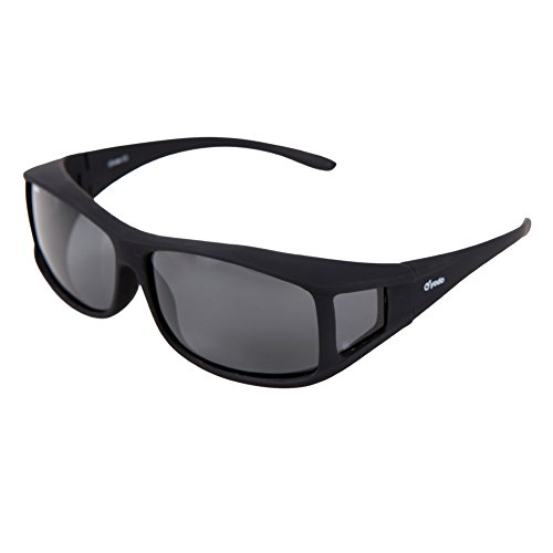 Yodo Fit Over Glasses Sunglasses with Polarized Lenses for Men and Women,Smoke