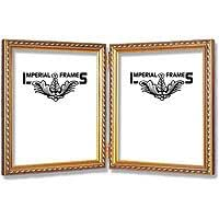 double picture frame 8x10 8 x 10 gold wood with antique look kitchen dining. Black Bedroom Furniture Sets. Home Design Ideas