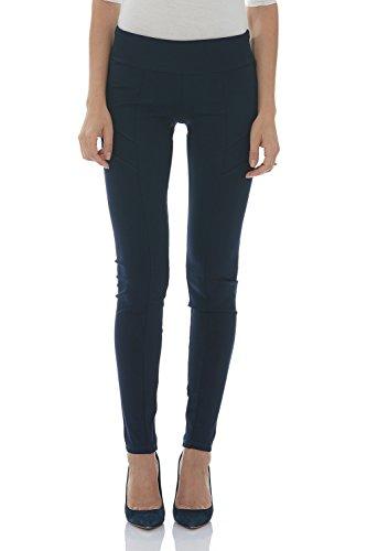 Suko Ponte Knit Leggings for Women Pull on Pants 16832 Navy (Ponte Knit Skinny Pant)