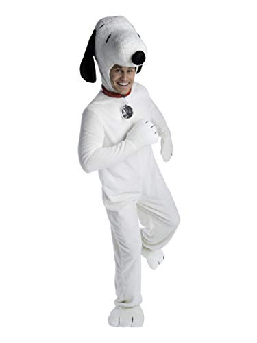 Adult Snoopy Costume (Deluxe Adult Charlie Brown Snoopy Costume White)