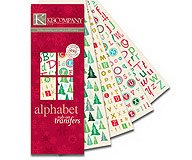 K and Company - Holiday Alphabet Rub-on Swatch Book ()