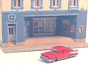 Miniature 1957 Chevy Bel Air automobile for use with N Scale