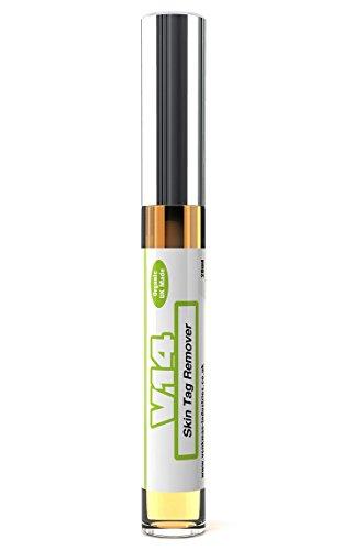 V14 Hautfortsatz-Entferner mit Rizinusöl + Calendulaöl + Teebaumöl - 100 % Natürlich & Organisch - 10 ml