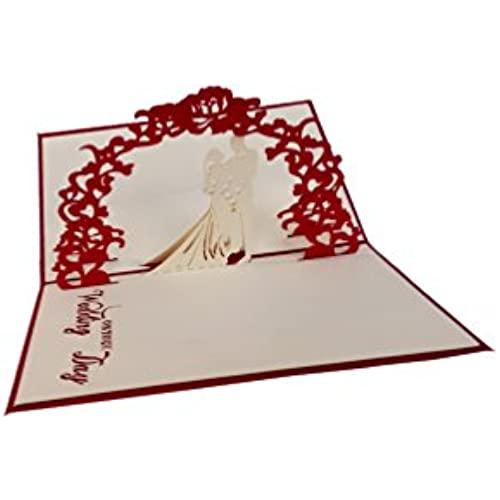 Ignislife Papercraft 3d Pop-up Greeting Cards Wedding day (Various Card Designs) Sales