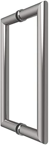 Laurence LAURENCE MT8X8BN CRL Brushed Nickel 8 MT Series Round Tubing Mitered Corner Back-to-Back Pull Handle by C.R C.R