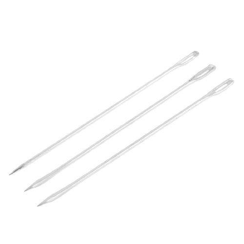 Water & Wood 3 Pcs Silver Tone Metal Sack Bag Packing Stitching Needles 13.5cm Length