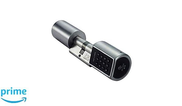 LOCK - Cilindro de cerradura para puerta con contraseña de doble motor L6P con funda a prueba de agua: Amazon.es: Bricolaje y herramientas