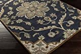 Surya Caesar Midnight Blue, Bone 9' Contemporary Area Rug