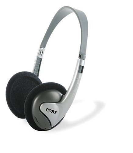 Coby CVH89 2-in-1 Combo Lightweight Stereo Headphones and Ea