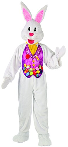 Rubie's Costume Co Men's Super Deluxe X-Large Mascot Bunny Costume, Multi, X-Large (The Rabbit From Alice In Wonderland Costume)