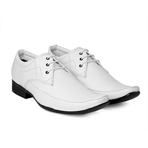 BXXY Men's Faux Leather Office Wear Derby Formal Lace-Up Shoes