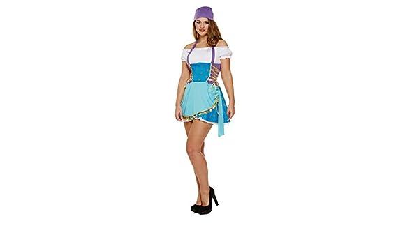 Disfraz Adulto GITANO MUJER: Amazon.es: Juguetes y juegos