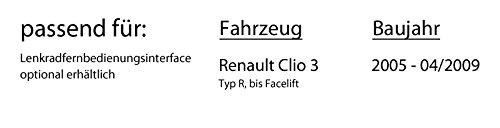 Autoradio Radio Kenwood KMM-204 Einbauset iPhone USB MP3 Einbauzubeh/ör Android Renault Clio 3