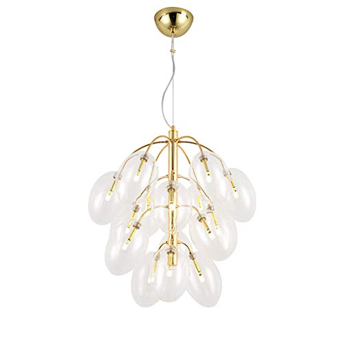 - ZAQ Pendant Lamp Ceiling Light Grape Chandelier Bubble Glass Lamp Shade Hanging Light Indoor Lighting for Living Room Dining Room Bedroom in Post Modern Style