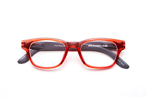 B +D Super Bold Reader in Matte Red - Super Bold