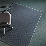 Deflect-O CM17243 45 by 53-Inch Execumat Studded Beveled Chair Mat for High Pile Carpet, Clear