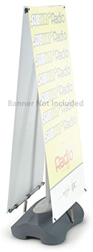 Banner Stand Graphic (Displays2go Double Sided Banner Stand Holder Up to 27 x 82 Inches High Graphic (00810878021935))