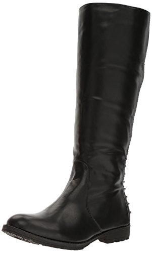 Gia-Mia Dancewear Women's Studded Knee High Boot, Black, 12 Medium US