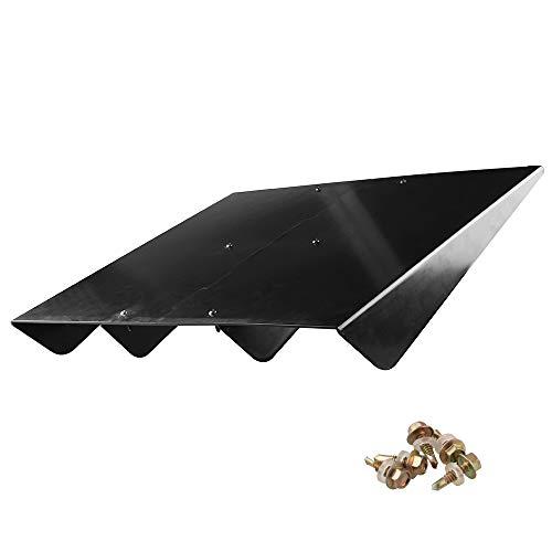 Spoiler Rear Fin - Ruien Universal ABS Rear Bumper 4 Shark Fins Diffuser Fin Car Spoiler Decoration Black