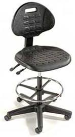 Black 5-Way Adjustable Ergonomic Stool, 225 Lbs Capacity