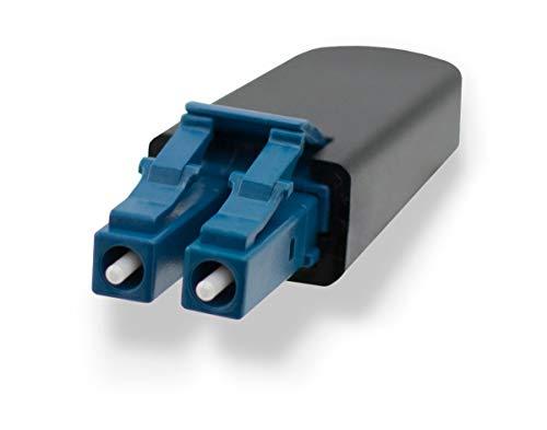 FiberCablesDirect - LC Loopback Singlemode Fiber Cable Testing Tool | Blue Fiber Optic 9/125um Loopback Tester Adapter Cable