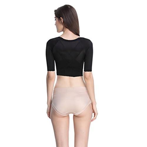 dc7643e574e50 Shymay Women s Shapewear Tops Wear Your Own Bra Short Sleeve Crop Top Arm  Shapers free shipping