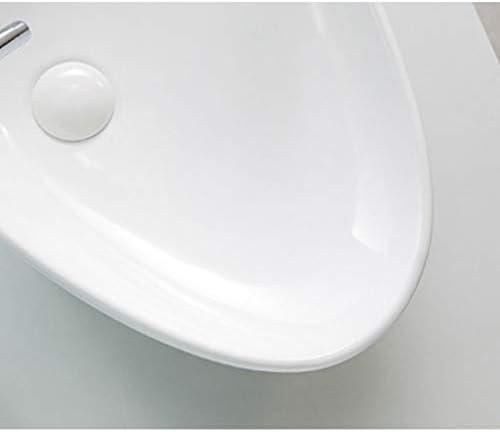 Minmin バスルームの洗面小さなアパートの家の装飾のシンプルなラウンドセラミックテーブルの浴室の洗面台バルコニー洗濯プールバスルーム洗面590x390x140mm 芸術流域 (Color : A)