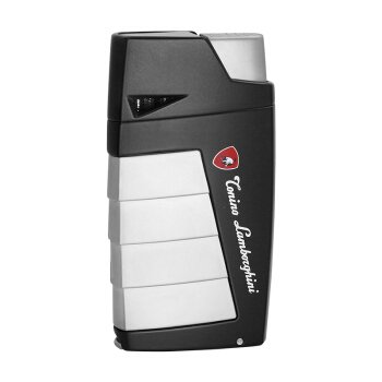 Tonino Lamborghini TTR018000 Duo Twin Jet Torch Flame Cigar Lighter - Black with Chrome