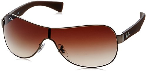 Ray-Ban RB3471 - GUN METAL  MATTE Frame BROWN GRADIENT Lenses 32mm Non-Polarized