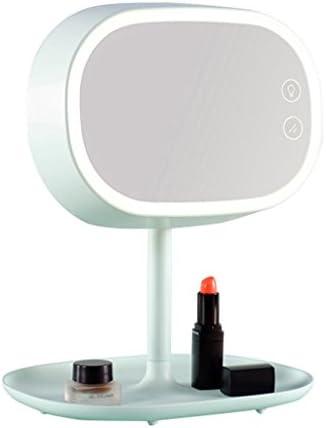 LEDの装飾ポータブル化粧品の片面グリーンミラー、21.6センチメートル* 25.5センチメートルとデスクトップABSクリエイティブ拡大鏡メイクアップミラー JZ02/28